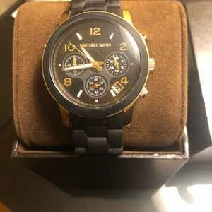 MK watch MK5191 Catwalk black and Gold